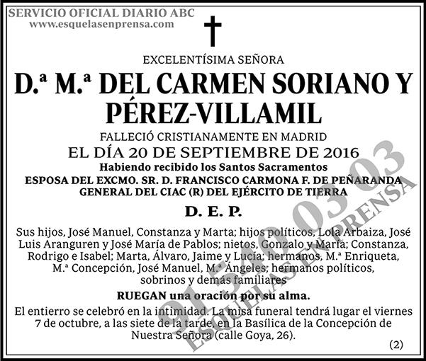 M.ª del Carmen Soriano y Pérez-Villamil
